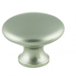 Plain Solid Knob - Satin Nickel