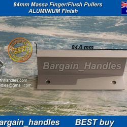 84mm Kitchen Profile Handles Massa Flush/Finger Pulls Aluminium Finish