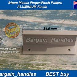 84mm Kitchen Profile Handles Massa Flush/Finger Pulls Aluminium Finish