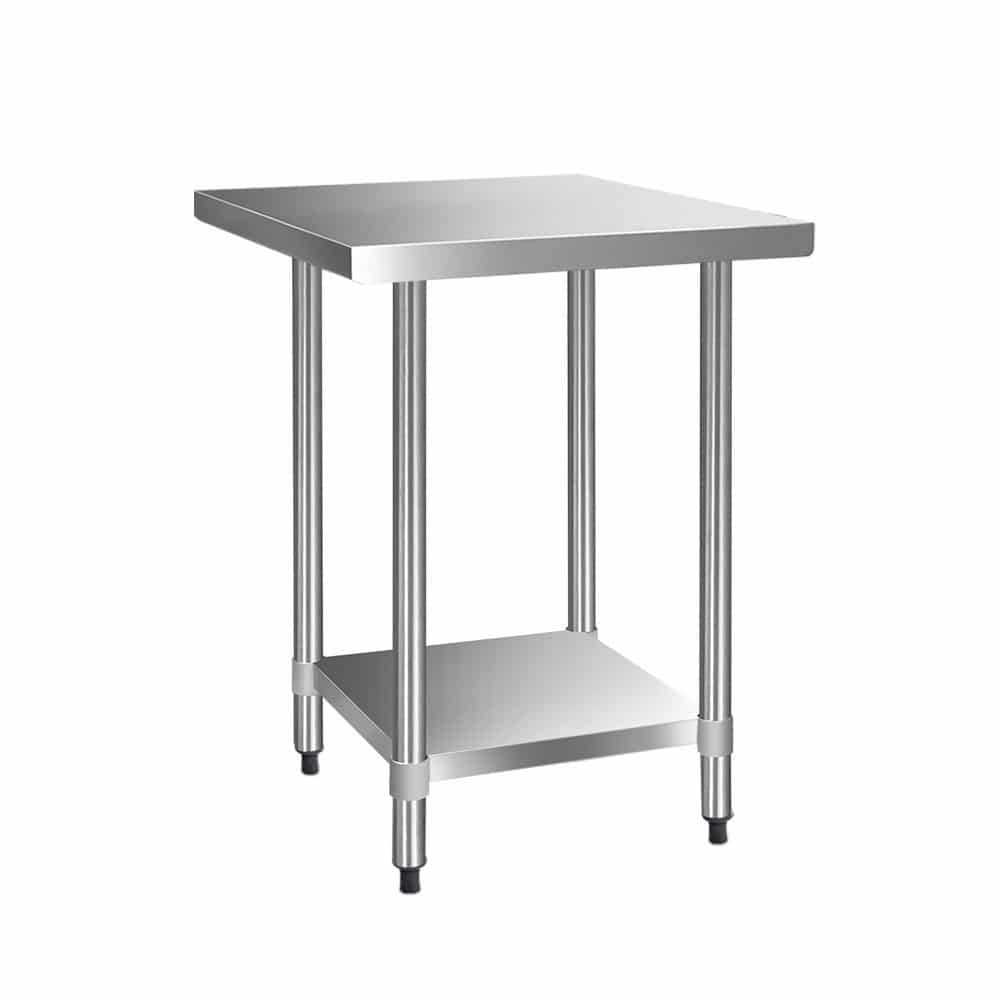 Cefito 762 x 762mm Commercial Stainless Steel Kitchen Bench
