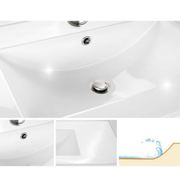 Cefito Bathroom Vanity Cabinet Unit Wash Basin Sink Storage Wall Hung 900mm White