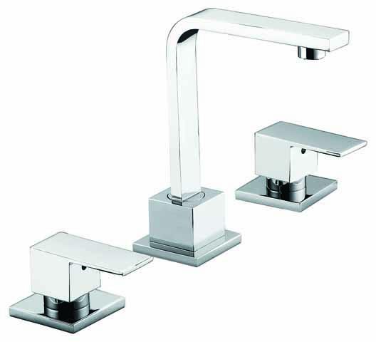 3pc Basin Tap Faucet Set - Bathroom Laundry Sink